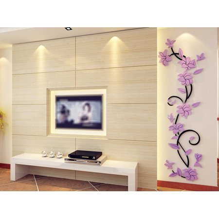 DIY 3D Acrylic Crystal Wall Stickers Living Room Bedroom TV Background Home (Room Background)