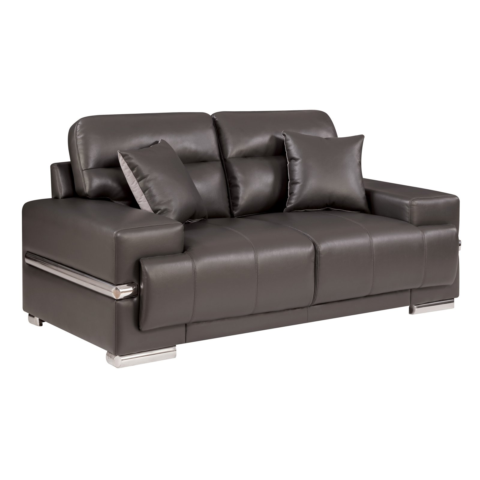 Furniture of America Preslly Contemporary Style Leatherette Loveseat