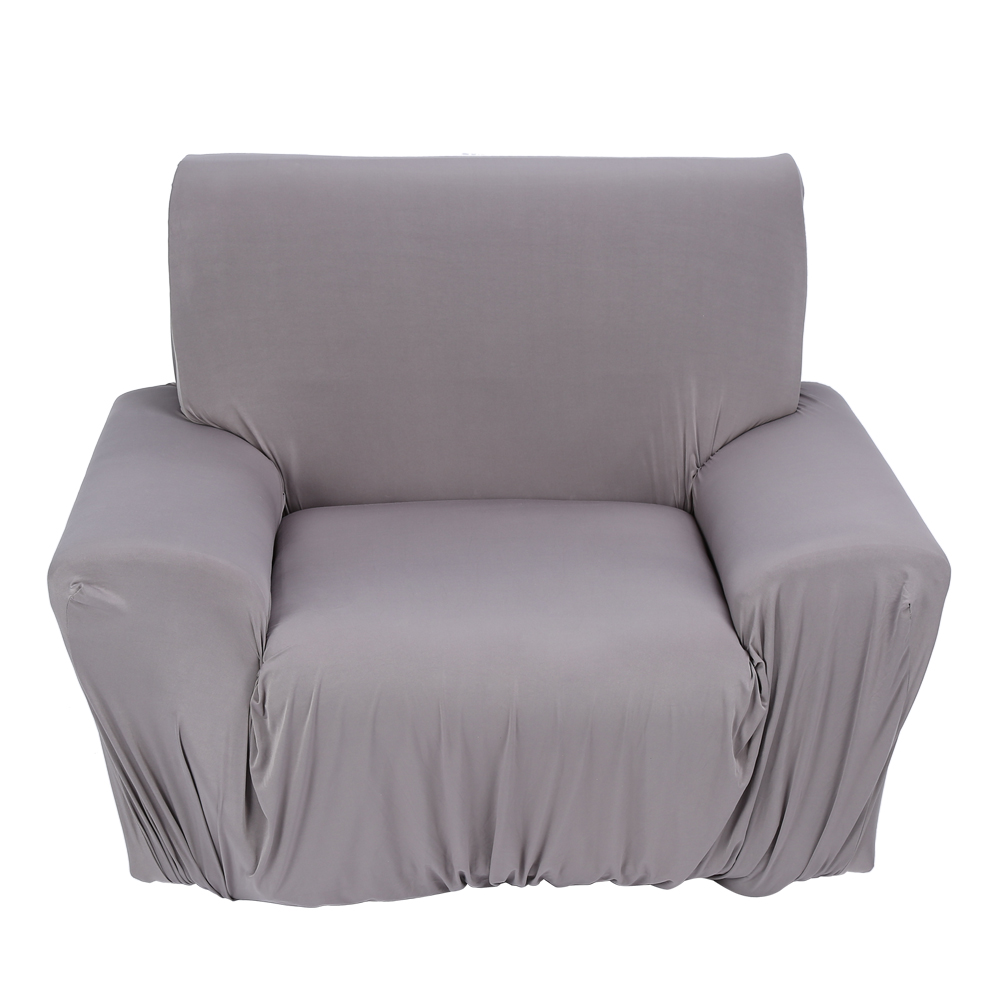 Sofa couch stretch covers elastic protector slipcover washable one seater gray 90140cm walmart com