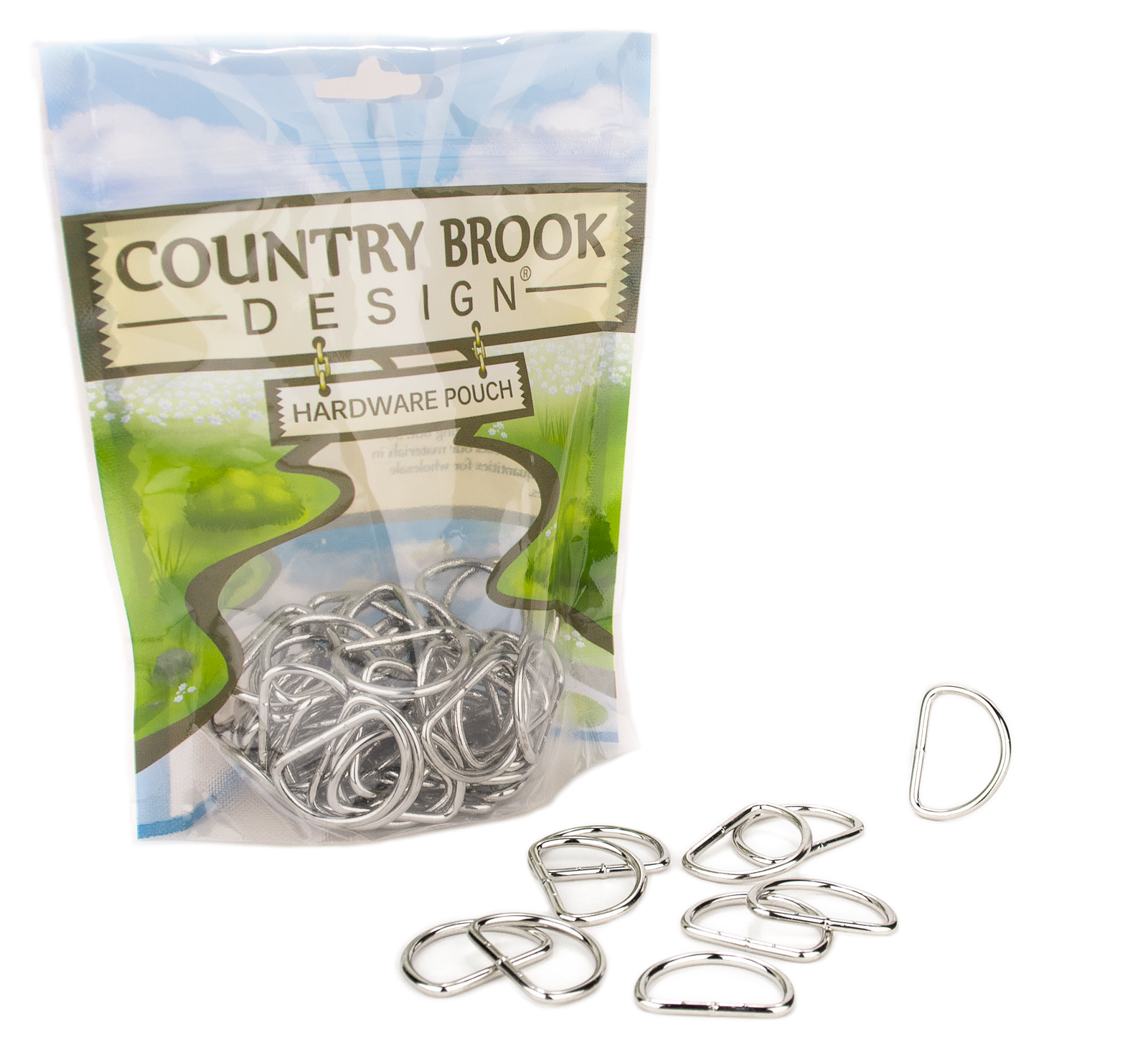 Country Brook Design® 1 Inch Lightweight Welded D-Rings