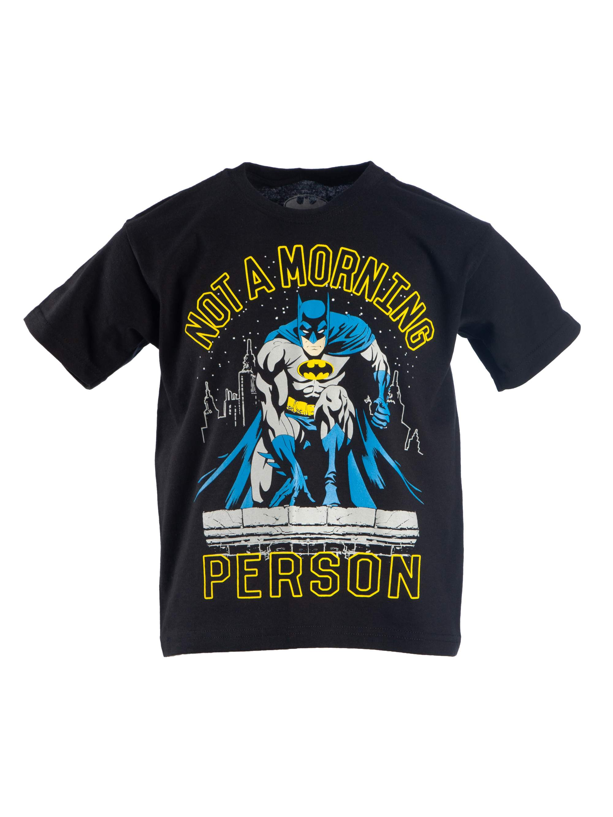"DC Comics Batman ""Not A Morning Person"" Short Sleeve Graphic Tee (Little Boys & Big Boys)"