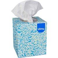 Kleenex Facial Tissue Cube Box (21271), Upright Face Tissue Box, 6 Boxes per Bundle