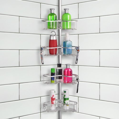 Utopia Alley Tension Rustproof Shower Caddy by