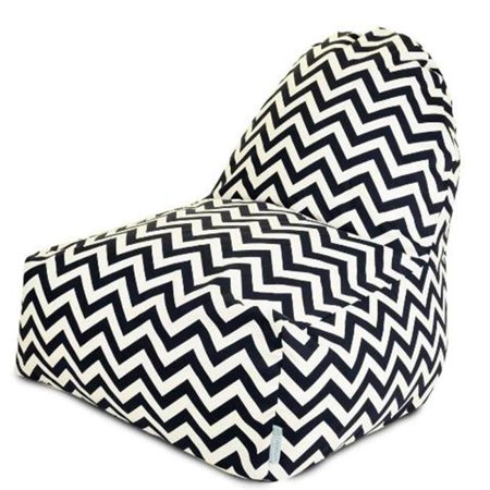 Majestic Home Black Chevron Kick It Chair on black table white chairs