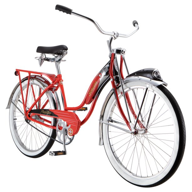 Schwinn Phantom Cruiser Bike, single speed, 26 inch wheels, red, women's vintage style