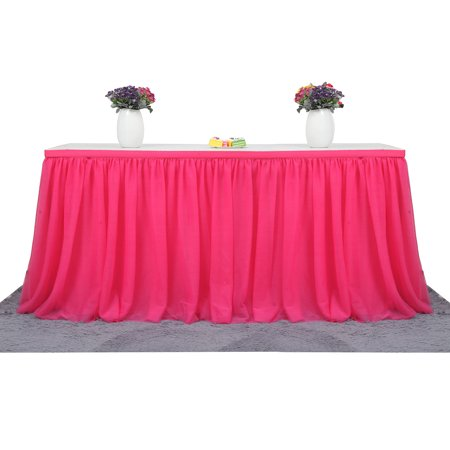 Large Size 72*30 Inch Handmade Tutu Tulle Table Skirt Cloth for Party Wedding Home Decoration, - Tutu Table Skirt For Sale