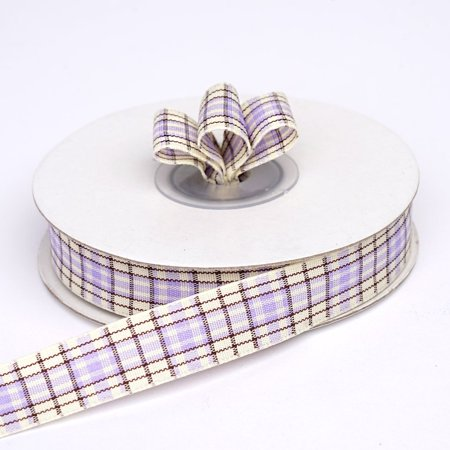 "Efavormart Distinct Plaid Ribbon 5/8"" x 25yrds per roll For Package Wrapping, Hair Bow Clips & Accessories Making Crafting Sewing"