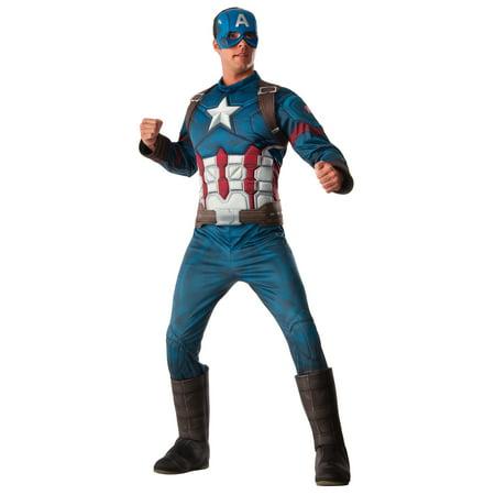 Deluxe Captain America Adult Halloween Costume