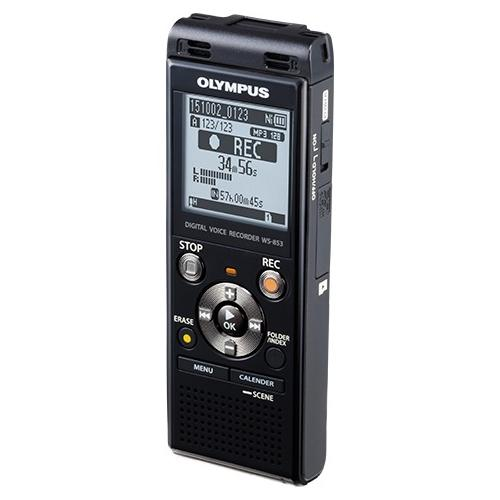 Olympus V415131BU000 Olympus WS-853 8GB Digital Voice Recorder - 8 GBmicroSD Supported - MP3 - Headphone - 2080 HourspeaceRecording Time - Portable