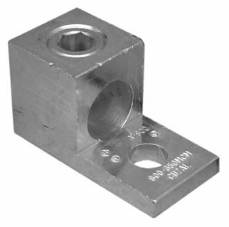 Morris Products 350 AWG One Conductor One Hole Mount Aluminum Mechanical Lug (Set of 3)