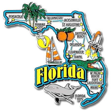 Florida Jumbo State Map Fridge Magnet (United States Map Magnet)