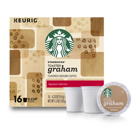 Starbucks Toasted Graham Flavored Blonde Roast Single Serve Coffee for Keurig Brewers, of 16 (16 Total K-Cup Pods) ()