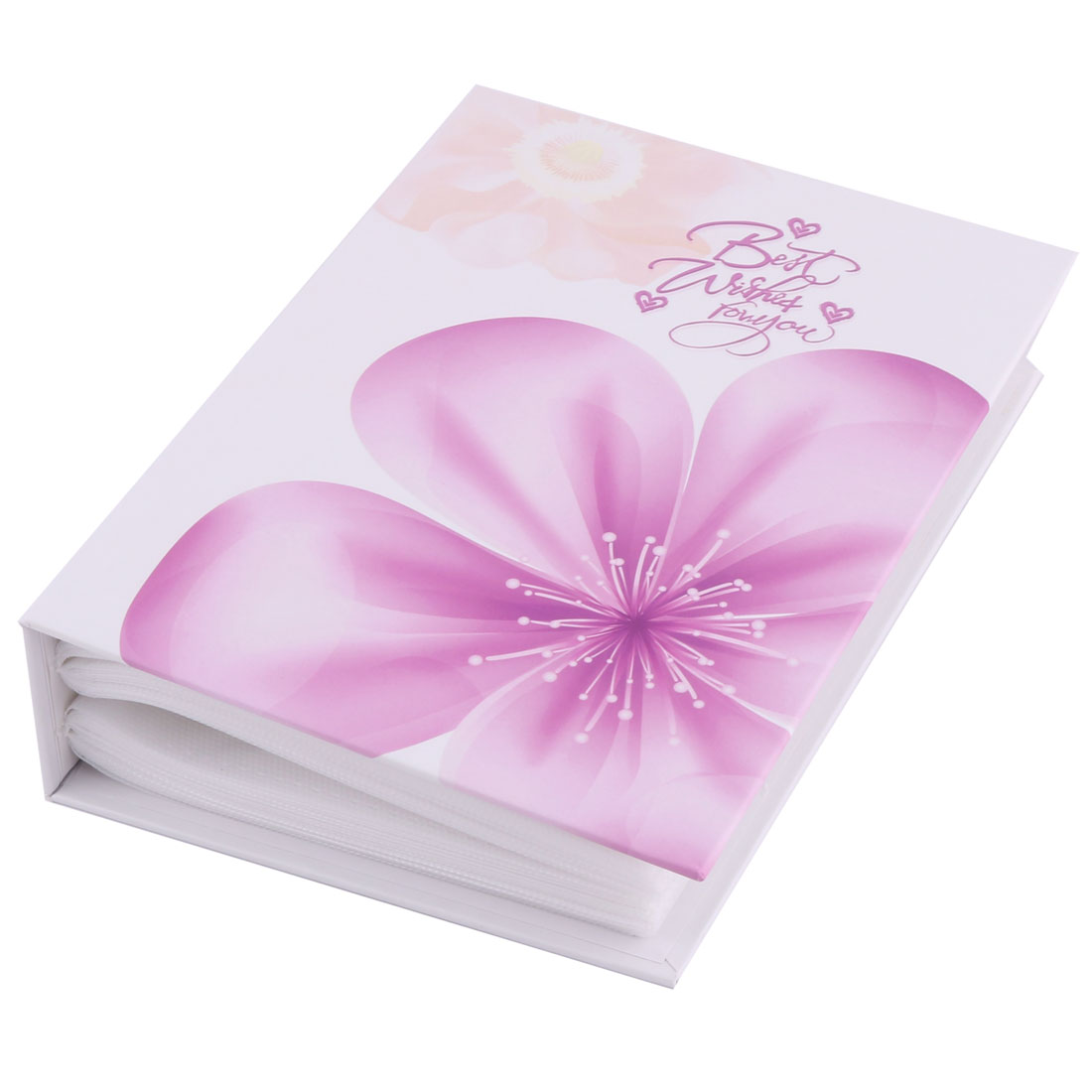 Cardboard Flower Print Travel Memo Collection Picture Book Photo Album Purple