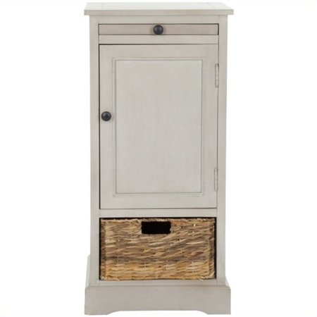 Hawthorne Collection Wood Tall Storage Unit in Grey