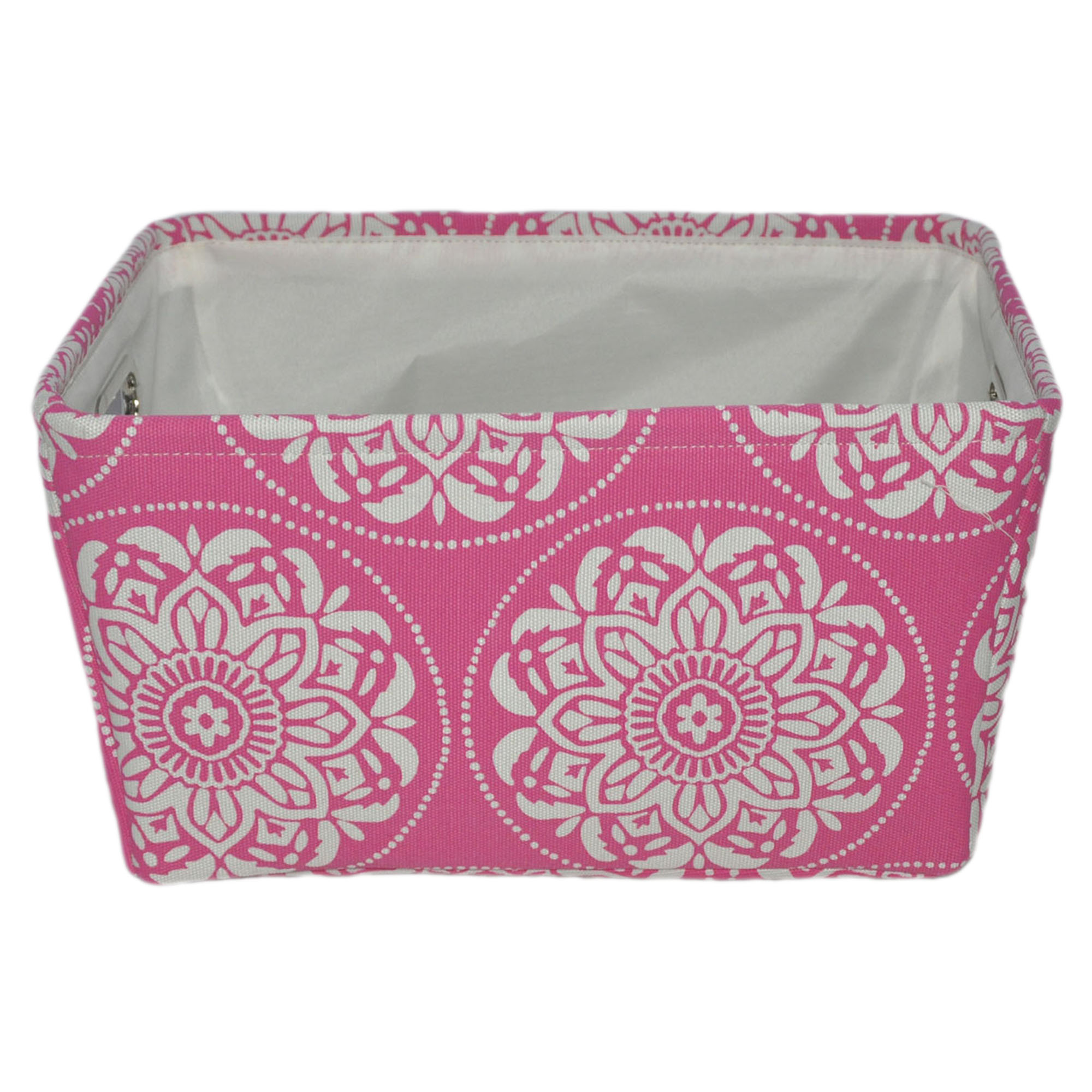 Mainstays Medallion Canvas Basket - 3 Pack - Multiple Colors