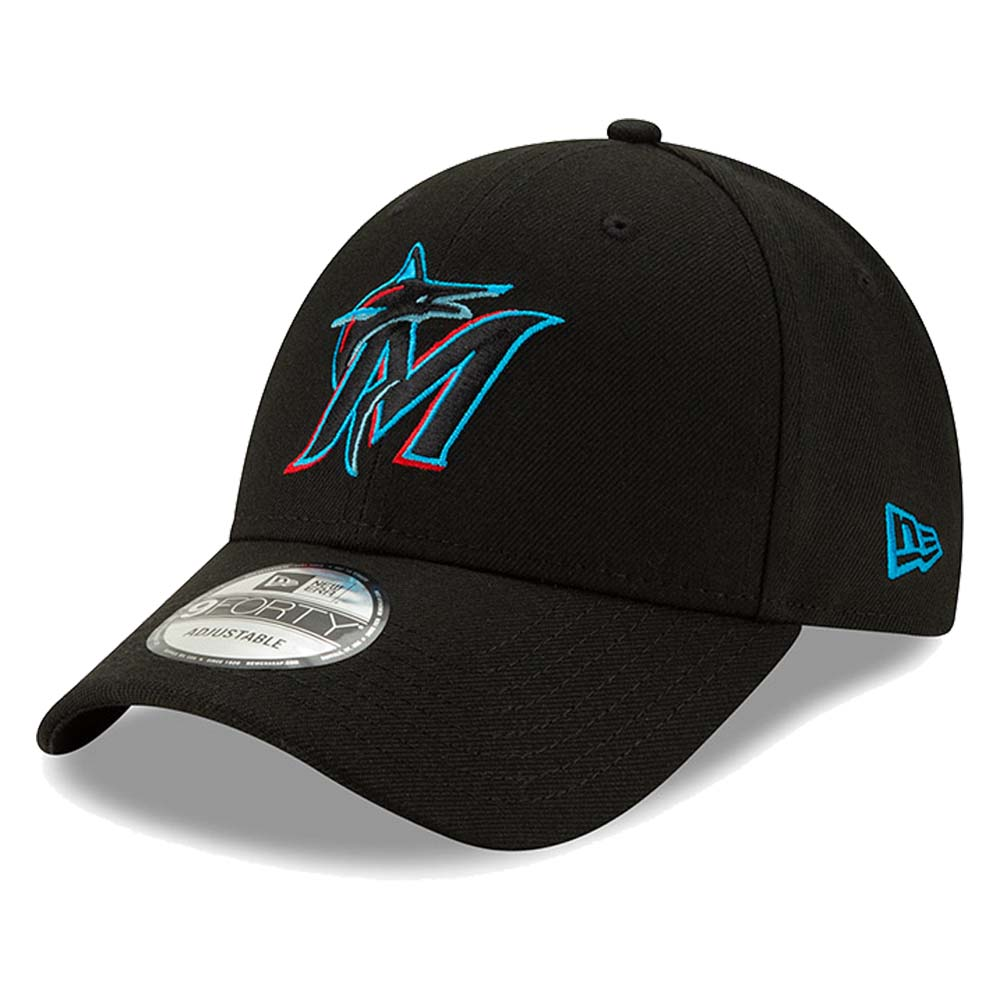 Miami Marlins New Era Youth 2019 The League 9FORTY Adjustable Hat - Black - No Size