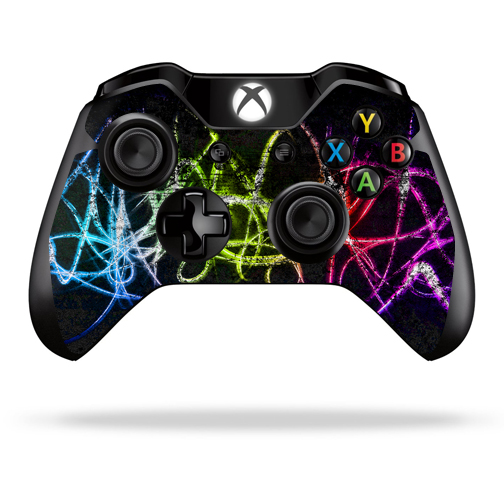 Protective Vinyl Skin Decal Cover for Microsoft Xbox One/ One S Controller wrap sticker skins Neon