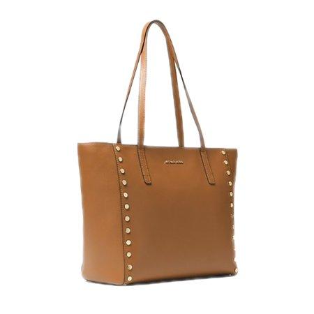 9ce9775f4a3530 Michael Kors - Michael Kors Women's Rivington Studded Medium Tote Bag Acorn  OS - Walmart.com