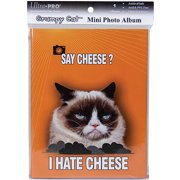 Ultra PRO 58206-R Grumpy Cat Mini Photo Album, 4 by 6-Inch, Say Cheese Multi-Colored