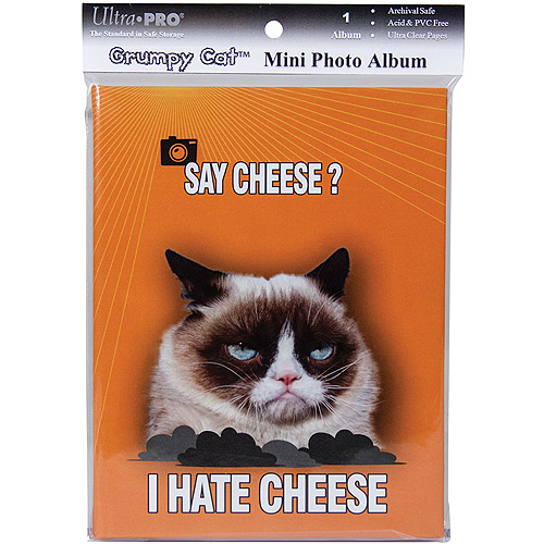 "Grumpy Cat Mini Photo Album, 4"" x 6"", Holds 24 Photos-Say Cheese"