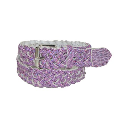 Girls' Metallic Braided Belt (Metallic Wrapped Bell)