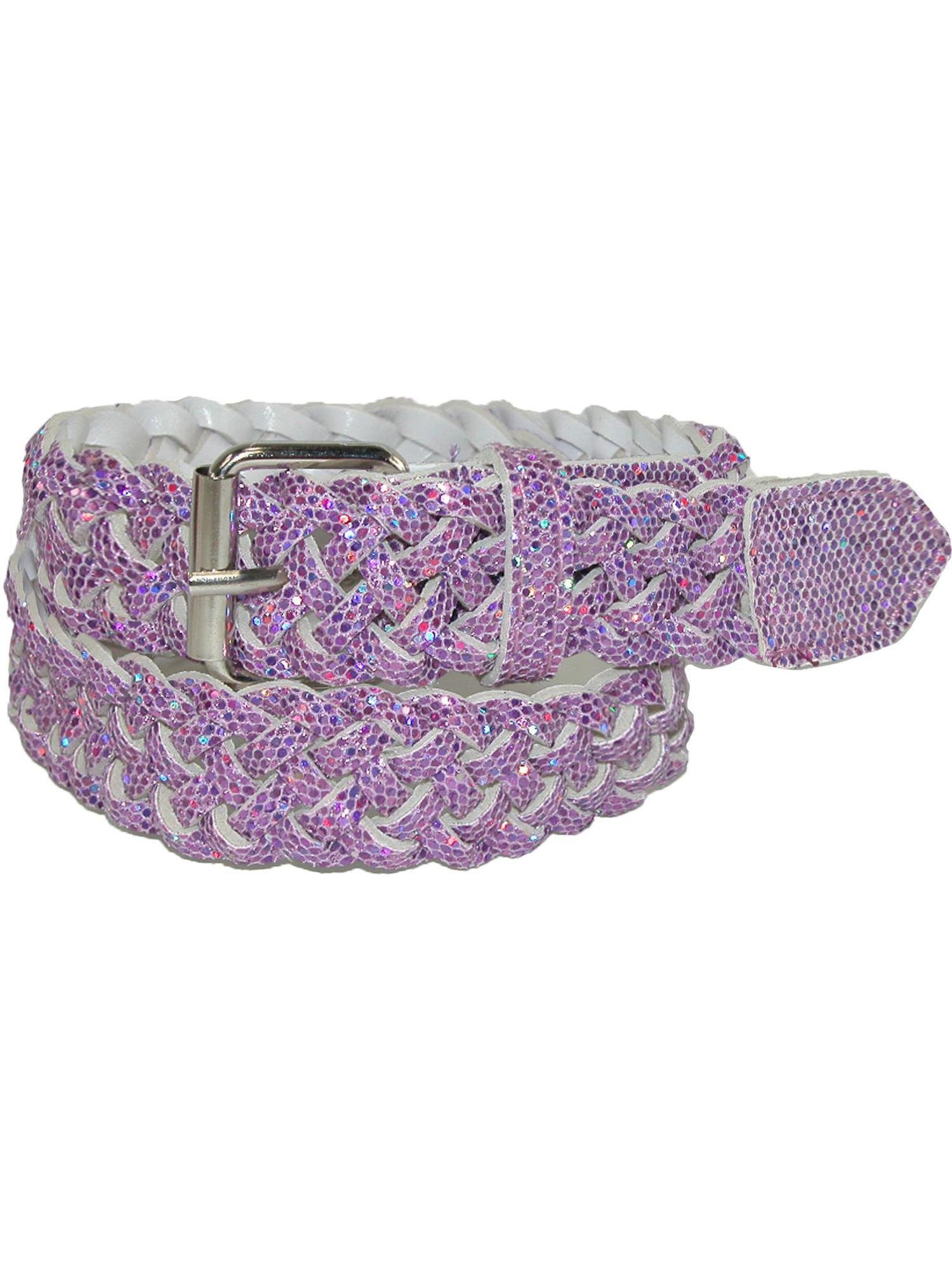 Girls' Metallic Braided Belt