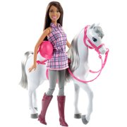 Barbie Doll and Horse, Brunette by Mattel