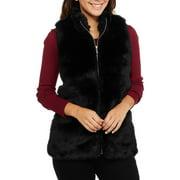 Heart And Crush Women's Faux Fur Zip Up