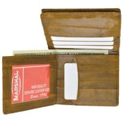 Eel skin Men's bifold credit card/ ID wallet Tan