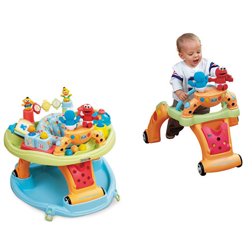 Sesame Beginnings 2-in-1 Activity Center and Walk-Behind