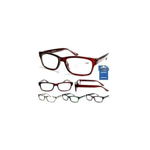 DDI 1755253 Cheetah Mens Retro Readers Assorted Powers and Colors Case Of 12