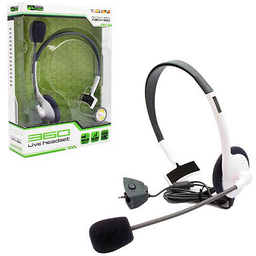 Xbox 360 Headset with Mic Xbox 360 Headphone by KMD Live Chat Headset With microphone For Microsoft Xbox 360 White Small (Gift Idea)