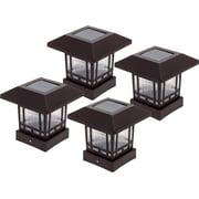 4 Pack WESTINGHOUSE NEW Bronze 20 Lumen Solar 4x4 Post Cap Lights for Wood Posts