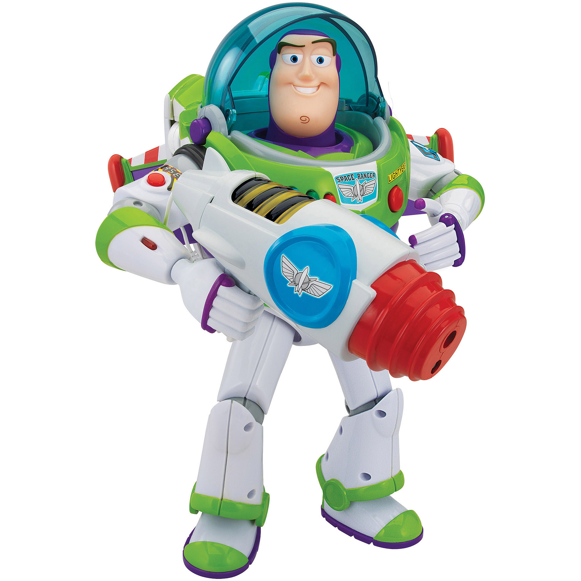 Toy Story Buzz Lightyear Power Projecto Talking Action Figure by Thinkway Toys