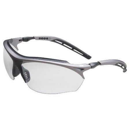 Metal Protective Eyewear - 3M Maxim GT Protective Eyewear 14246-00000-20 Clear Anti-Fog Lens, Metallic Gray and Black Frame Color