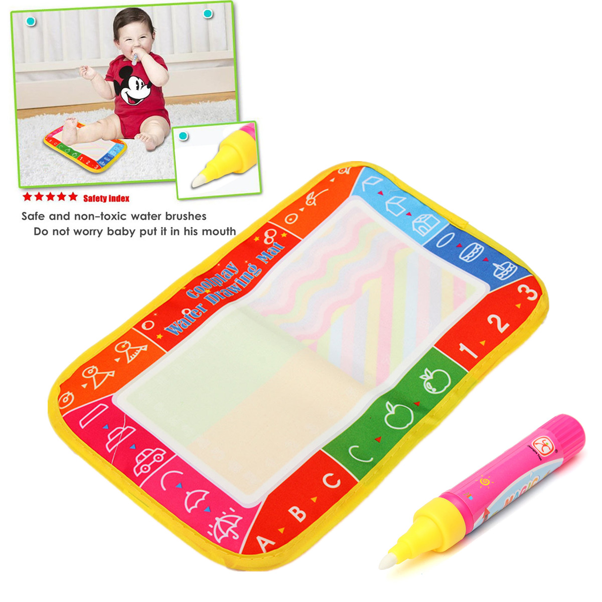 Non-toxic Baby Kid Children Water Drawing Painting Writing Mat Board & Pens Doodle Games Kids Toys Gift