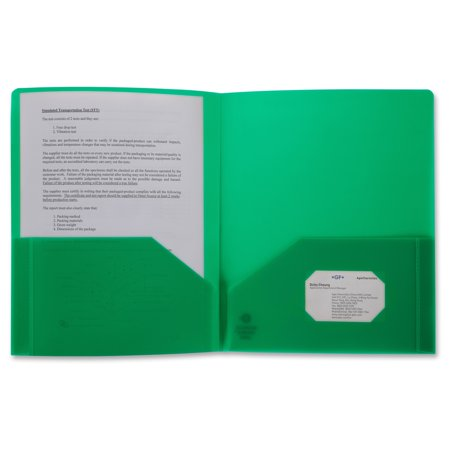 - Business Source 2-pocket Poly Portfolio - Letter - 8 1/2