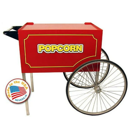 Large Classic Popcorn Machine Cart in Red