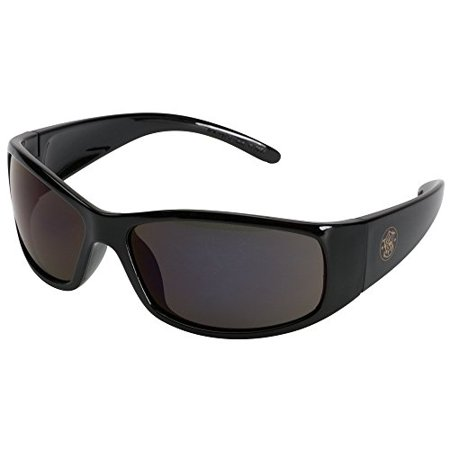 Smith and Wesson Safety Glasses (21303), Elite Safety Sunglasses, Smoke Anti-Fog Lenses with Black Frame