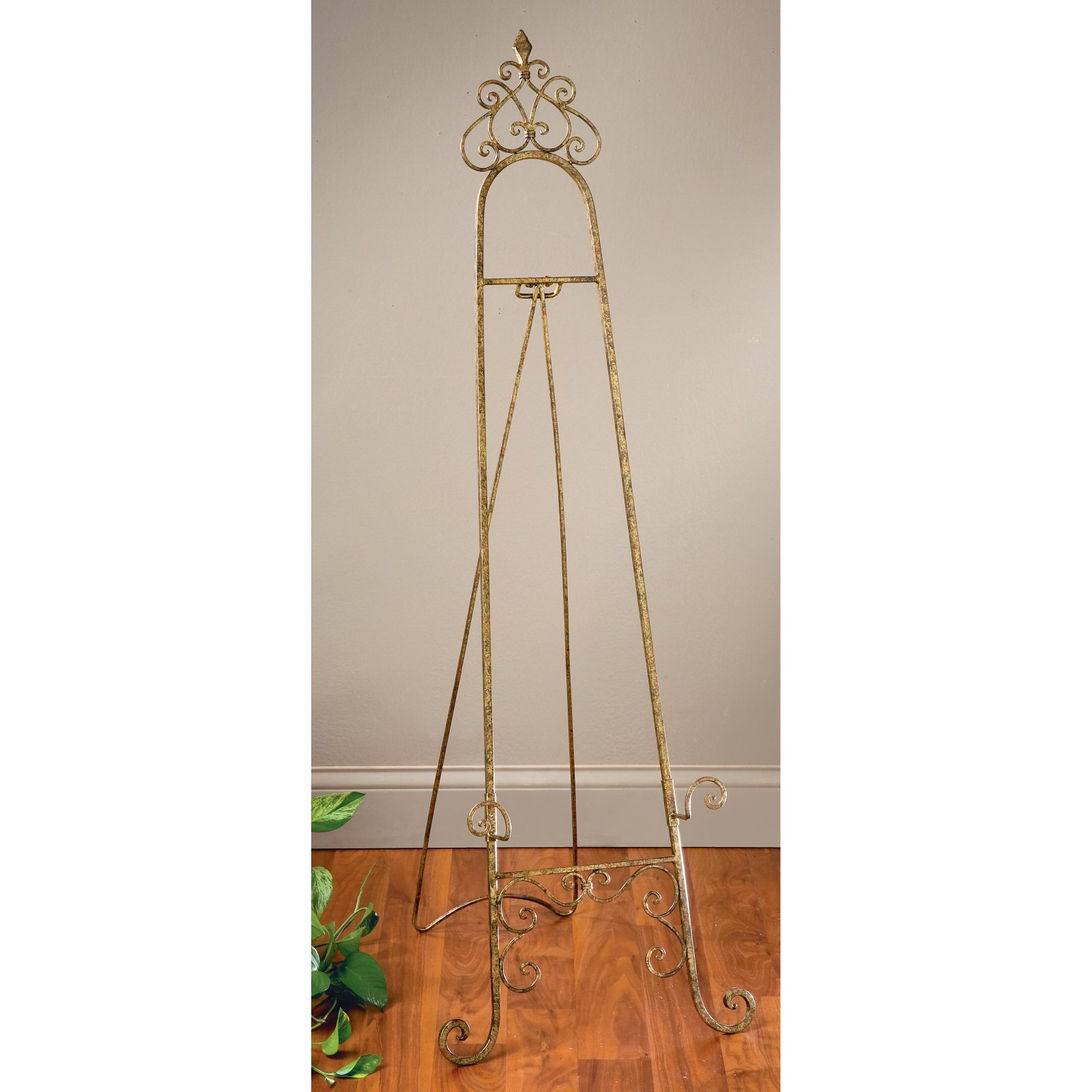 Tripar Gold Metal Floor Easel