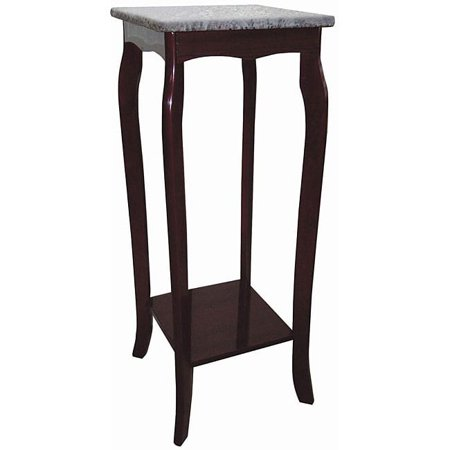 Telephone Table Stand - Ore International JW-118M Cherry Phone Table with Marble Top