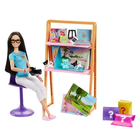Cookieswirlc Barbie Doll And Accessories Blue Bear
