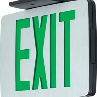 Progress Lighting PEALE-DG-EM-16 Double Sided Green LED Exit Sign
