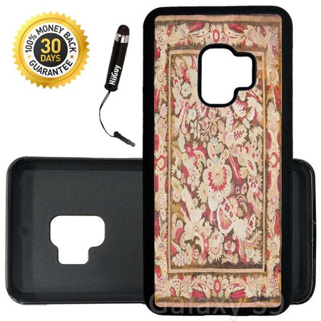 Custom Galaxy S9 Case (Antique Aubusson French Art) Edge-to-Edge Rubber Black Cover Ultra Slim | Lightweight | Includes Stylus Pen by (French Aubusson Light)
