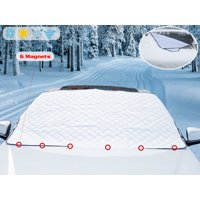 Premium Magnetic Snow Windshield Cover by Glare Guard   Car Windshield Snow Cover for Ice, Sleet, hail & Frost Protection   Universal 80in x 40in frost-guard fits Cars, Trucks & SUVs