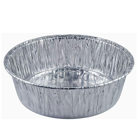 Disposable Round Baking Aluminum Pans - Extra Deep Round Casserole Cake Pan (20, 10-inch -