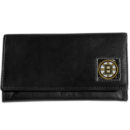 Boston Bruins Leather Womens Wallet by