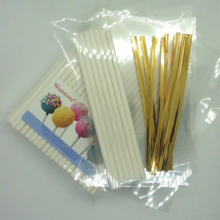 Cake Pop Bags And Ties (Weststone - 100pcs 4 1/2