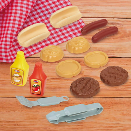 Little Tikes Sizzle 'n Serve Grill, Barbecue Cooking Playset Kids Outdoor