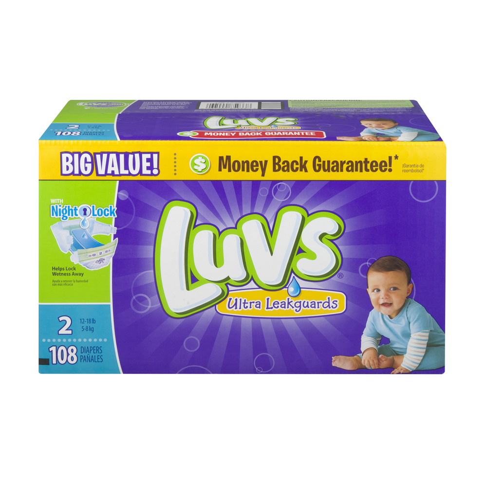 Luvs Ultra Leakguards Diapers, Size 2 (Choose Diaper Count)